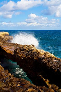 Devil's Bridge, Antigua - One of the coolest things I've ever seen! Honeymoon Cruise, Jet Plane, Wander, Places Ive Been, Bridge, To Go, Bucket, Spaces, Fun