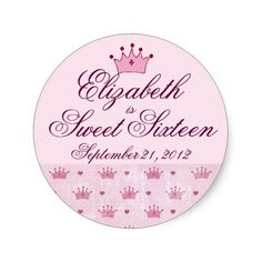 Pink Crown-Sweet Sixteen Sticker