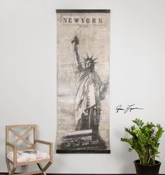 Miss Liberty Canvas Art : 9LX7Y | Annapolis Lighting