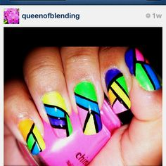 nail inspiration. #neon