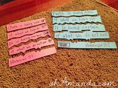 Bible Verse Scavenger Hunt with a puzzle twist