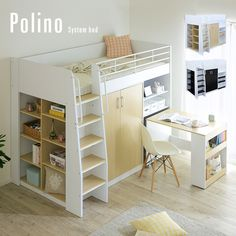 Space Saving Furniture for small spaces Girl Bedroom Designs, Room Ideas Bedroom, Small Room Bedroom, Bedroom Decor, Loft Bunk Beds, Bunk Beds With Stairs, Kids Bunk Beds, Small Room Design, Home Room Design
