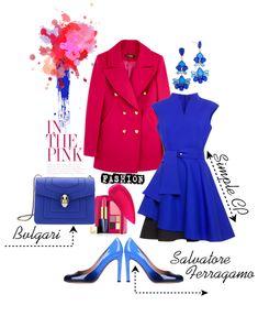 Модные сеты c синим платьем