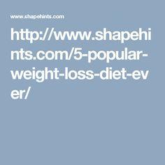 http://www.shapehints.com/5-popular-weight-loss-diet-ever/