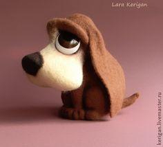 Toy animals, handmade.  Fair Masters - handmade puppy dog look.  Handmade.