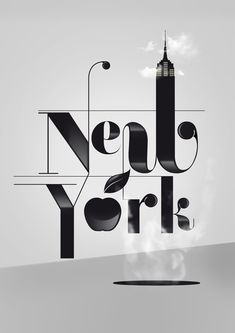 New York typographic poster