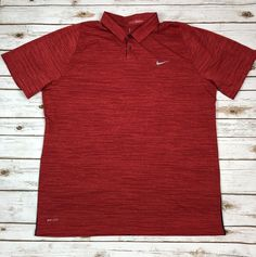 Nike Tiger Woods Collection Dri Fit Golf Polo Shirt Red Size XXL  02945893d1e15
