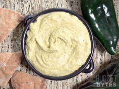 Roasted Poblano Hummus - Budget Bytes