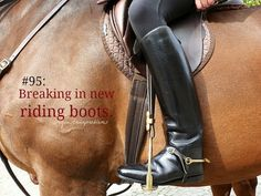 Equestrian Problem #95  Just bought new ones :( need breaking in