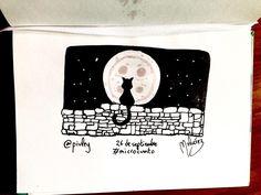 #Microcuento: 26 de septiembre de 2016 La luna de botón y las invernales estrellas titilaban con mayor intensidad más allá del muro que bordeaba el pequeño pueblo inglés. Más allá del muro se abría un vasto campo un bosque un mercado y más allá un reino mágico olvidado hoy en día pero que unos pocos libros todavía documentan como el reino de Faerie donde para entrar tenías que pagar el precio con tu nombre. Pero al gato negro de ojos azules no le importaba lo más mínimo. Era un gato sin…