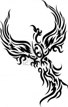 New Phoenix Bird Stencil Tattoo Ideas Ideas Phoenix Bird Tattoos, Red Bird Tattoos, Tribal Tattoos, Tatoos, Bear Tattoos, Pheonix Drawing, Survivor Tattoo, Bird Stencil, Bird Tattoo Wrist