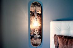 Skateboard Lamp -SWEET!