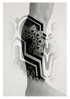 geometric line tattoo Circle Tattoos, Line Tattoos, Trendy Tattoos, Body Art Tattoos, Sleeve Tattoos, Tattoos For Guys, Geometric Line Tattoo, Geometric Tattoo Pattern, Geometric Sleeve