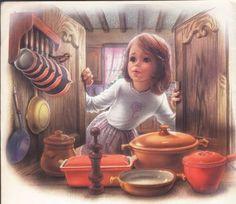 Drawings of Marcel Marlier known as Martine Decoupage Vintage, Vintage Art, Marcel, Art Magique, Art Asiatique, Sarah Kay, Light Painting, Children's Book Illustration, Love Art