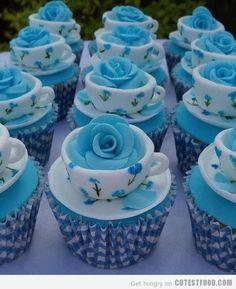 49. blue #Bells Cupcakes - 50 des très #jolis Cupcakes que vous ne #verrez jamais... → Food