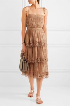 Zimmermann | Meridian Circle lace-trimmed embroidered silk-georgette dress | NET-A-PORTER.COM