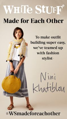 Fashion stylist and friend of White Stuff, Nini Khatiblou has curated an edit of flattering ready-made looks for you. White Stuff Uk, Vintage Fashion, Women's Fashion, Fashion Design, Fashion Ideas, Fashion Trends, Fashion Articles, Stunning Women, Womens Fashion Online
