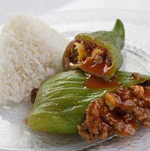 Caigua Rellena - Este plato se puede hacer bien light usando carne molida baja en grasa, no deberías usar aceite en esta receta. La caigua es pura agua.