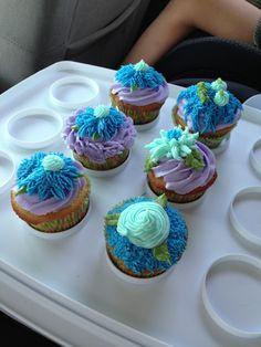 Frosting cupcakes in class. 3rd week of school