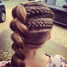 My beautiful niece @jess_0164 in an @riileh inspired 2 Dutch accent braids into a side line pull through. #hairbyjules #hairstyle #hair #dutchbraid #braid #braids #braiding #braidideas #instabraid #pullthroughbraid #pullthrough #hairforgirls #braidsforlittlegirls #braidsforgirls #braidstyles #gymnasticshair