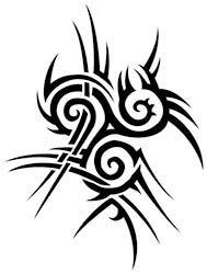 tribal trisquel dragon