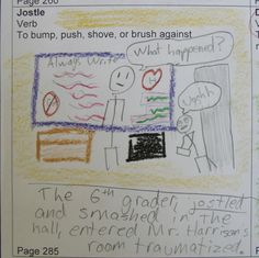 """Sometimes I make it into my students' vocabulary workshop assignments as a character.  Notice how the whiteboard acknowledges that I am """"always write."""" Check out my vocab resources here: http://corbettharrison.com/Vocabulary.htm"""