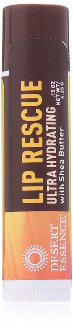 Desert Essence Lip Rescue with Shea Butter, .15 Ounce *** See this awesome image  : Natural Beauty Care