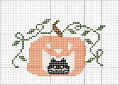 Schema punto croce Gatto In Zucca