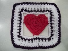 Framed Heart 6 in. square, test pattern