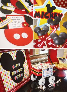 Amanda's Parties TO GO: Mickey Mouse Disney Carnival Party--great invite idea
