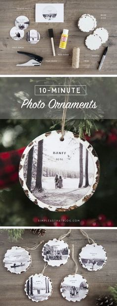 10 Minute Photo Keepsake Ornaments. These photo keepsake ornaments take no time to make. They look amazing on your Christmas tree or you can also use it as great giving gifts for holiday!