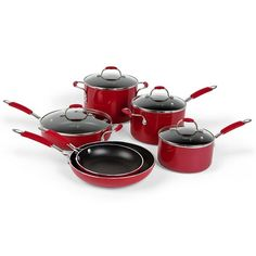 Calphalon Cookware in Red.