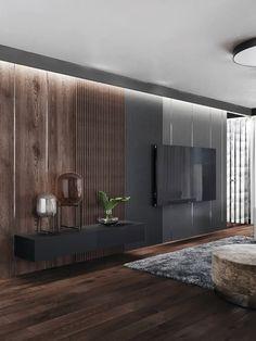Modern Tv Room, Modern Bedroom Design, Living Room Modern, Home Living Room, Home Interior Design, Tv Wall Design, House Design, Living Room Tv Unit Designs, Living Room Decor Inspiration