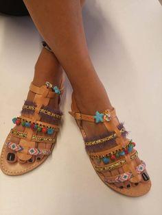 Βoho Sandals,Gladiator Sandals,Greek sandals, Handmade Leather Sandals,Women's Shoes,Sandals , Gladiator Leather Sandals, Flat sandals,
