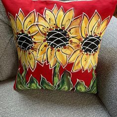 Pumpkin and Crow Fall Pillow Yellow Gold Hand-painted Pillow | Etsy Pumpkin Pillows, Red Pillows, Handmade Pillow Covers, Handmade Pillows, 4th Of July Fireworks, July 4th, Easter Pillows, Sunflower Gifts, Spring Painting