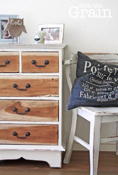Sweet & Petit Vintage Chest of Drawers in Sunlight White $190 on Etsy