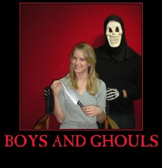 Boys and Ghouls. A horror movie podcast hosted by a warm and engaging duo. NEW EPISODES ON THE 13TH OF EVERY MONTH!