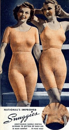 Snuggies - with continuous saddle crotch, 1930s