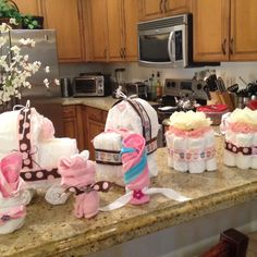 Diaper decorations for baby shower