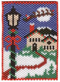 Pony Bead Patterns, Peyote Patterns, Peyote Stitch Tutorial, Seed Bead Flowers, Beaded Banners, Christmas Wall Hangings, Beaded Christmas Ornaments, Beaded Crafts, Peyote Beading