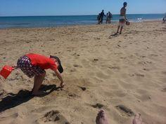 #elpeque en la playa