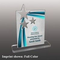 Promo World Inc. is the premier destination for custom promotional products, branded apparel & other merchandise. Check out our inventory here! Custom Trophies, Acrylic Awards, Star Awards, Shooting Stars, Star Shape, Corporate Gifts, Bookends, Shapes, Woodworking