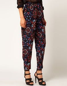 Enlarge ASOS Trousers In Stain Glass Print