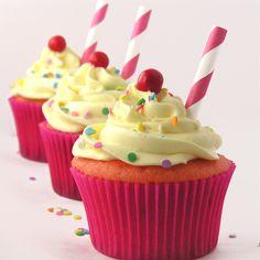 Strawberry Lemonade Cupcakes ~ the yummiest treat!
