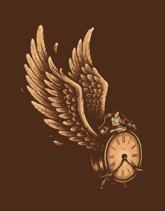 Time Flies Art Print by Enkel Dika Time Flies Tattoo, Mona Lisa, Ghost In The Machine, Clock Art, Clocks, Poster Making, Time Art, Pink Floyd, Art Photography