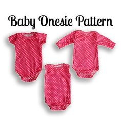 Sew baby clothes with this onesie sewing pattern PDF Download. Short or long sleeve options. Easy sewing pattern for beginners! This onesie sewing pattern is the easiest available ANYWHERE. Sewing Lev