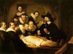 """Lección de anatomía"""" de Rembrandt."""