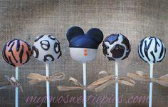 Mickey Safari theme cake pops