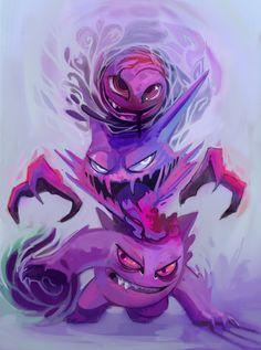 LMA, Pokemon, haunter, gengar, ghastly.