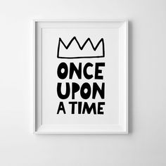 Monochrome nursery art Once upon a time, Scandinavian print nursery decor by Mini Learners.  - High quality PDF and JPEG files - Sizes 8 x10 - Instant download - Colors depicted on your screen may be slightly different from the actual print.  PLEASE NOTE: You are purchasing a digital file only. NO PRINTED MATERIALS OR FRAME ARE INCLUDED!  The files will be delivered electronically. Within minutes of your order and payment, an email will be sent to the address you have associated with your…